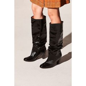 Free People Tennison Black Knee High Boots 36 NEW